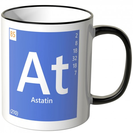 "JUNIWORDS Tasse Element Astatin ""At"""