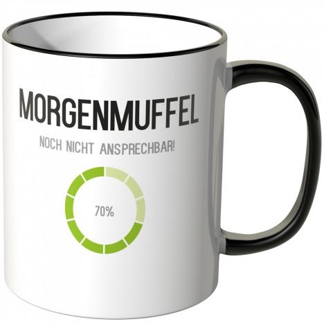 JUNIWORDS Tasse Morgenmuffel - noch nicht ansprechbar