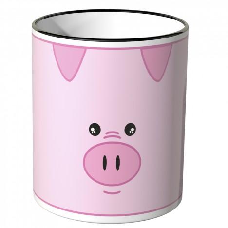 JUNIWORDS Tasse süßes Schweinchen