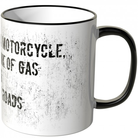 JUNIWORDS Tasse Happiness is a motorcycle...