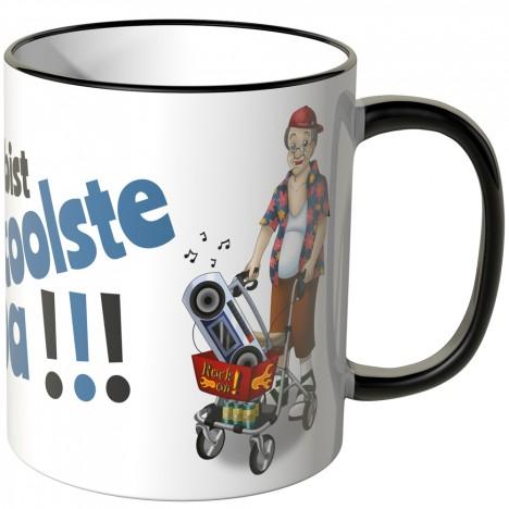 JUNIWORDS Tasse Du bist der coolste Opa!