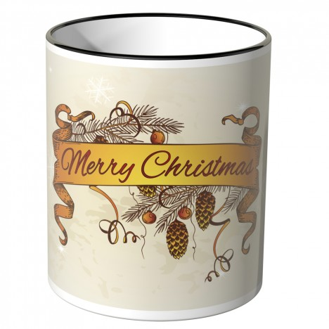 JUNIWORDS Tasse Merry Christmas Schleier