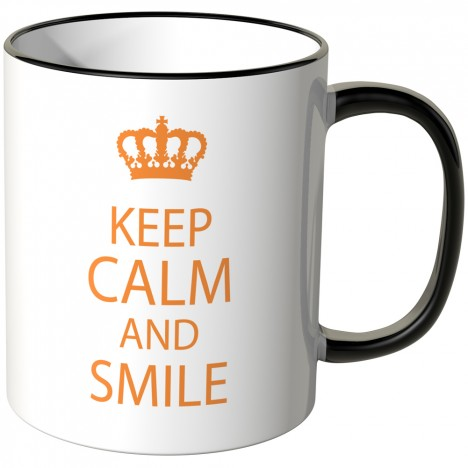 JUNIWORDS Tasse Keep calm and smile