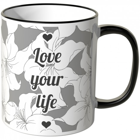 JUNIWORDS Tasse Love your life