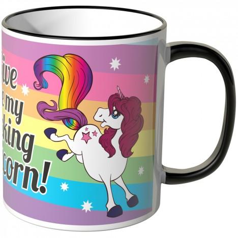 JUNIWORDS Tasse Give me my fucking unicorn