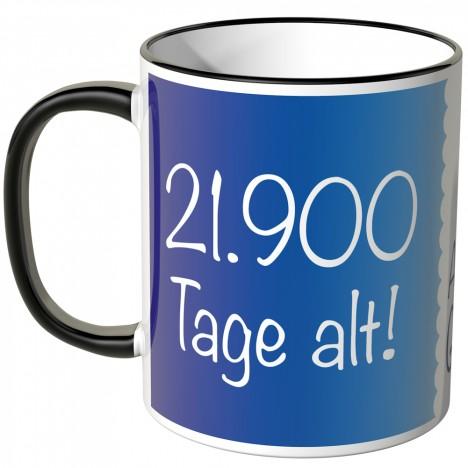JUNIWORDS Tasse 21.900 Tage alt! (60 Jahre) - blau