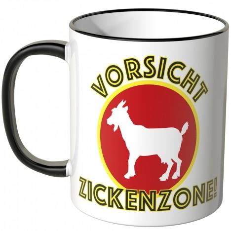JUNIWORDS Tasse Vorsicht Zickenzone!
