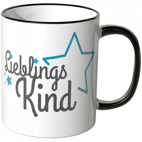 JUNIWORDS Tasse Lieblingskind mit Stern - blau