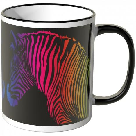 JUNIWORDS Tasse buntes Zebra