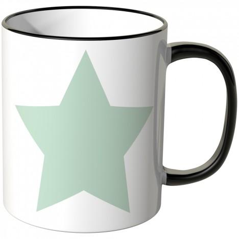 JUNIWORDS Tasse mintfarbener Stern