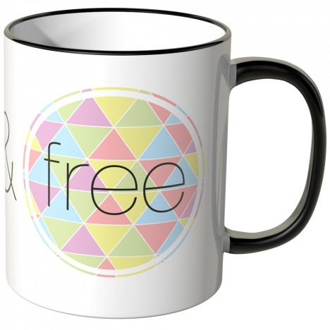 JUNIWORDS Tasse Wild & free bunt