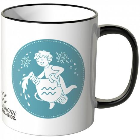 JUNIWORDS Tasse Sternzeichen Wassermann