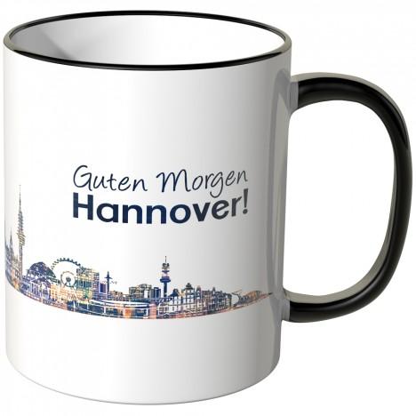 """JUNIWORDS Tasse """"Guten Morgen Hannover!"""" Skyline bei Nacht"""