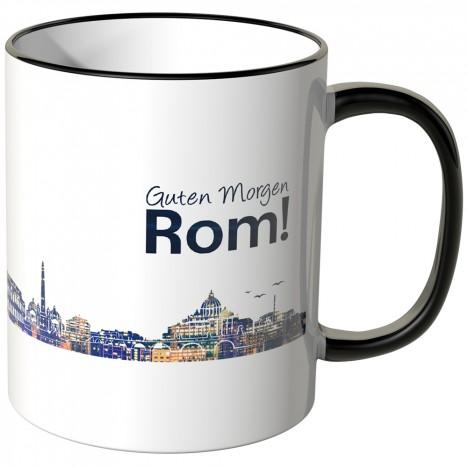 """JUNIWORDS Tasse """"Guten Morgen Rom!"""" Skyline bei Nacht"""