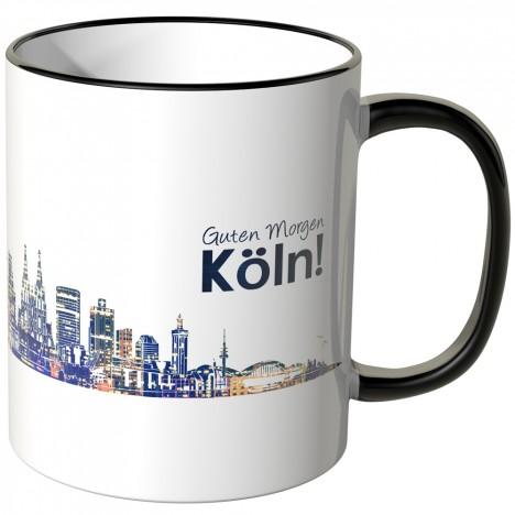 """JUNIWORDS Tasse """"Guten Morgen Köln!"""" Skyline bei Nacht"""