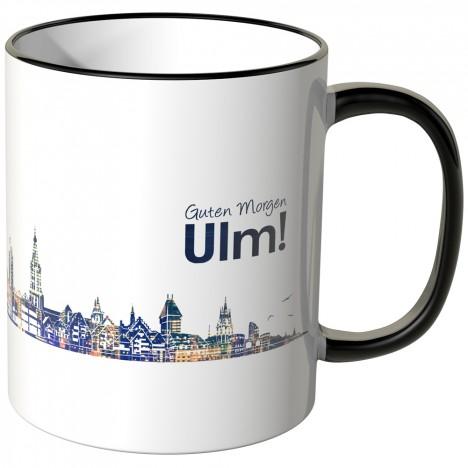 """JUNIWORDS Tasse """"Guten Morgen Ulm!"""" Skyline bei Nacht"""