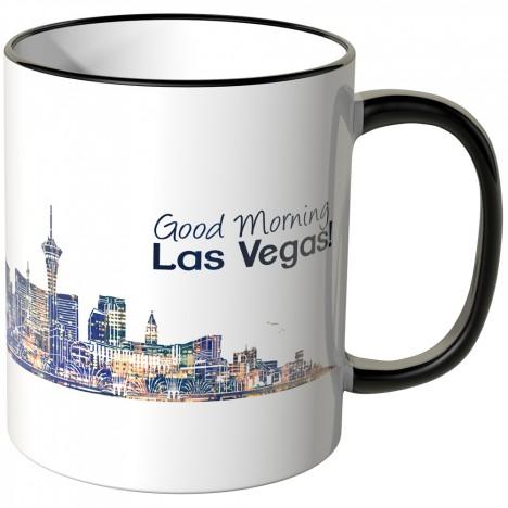 "JUNIWORDS Tasse ""Good Morning Las Vegas!"" Skyline bei Nacht"