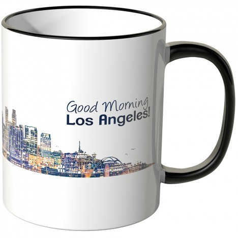 "JUNIWORDS Tasse ""Good Morning Los Angeles!"" Skyline bei Nacht"