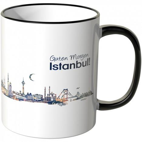 """JUNIWORDS Tasse """"Guten Morgen Istanbul!"""" Skyline bei Nacht"""