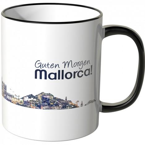 """JUNIWORDS Tasse """"Guten Morgen Mallorca!"""" Skyline bei Nacht"""