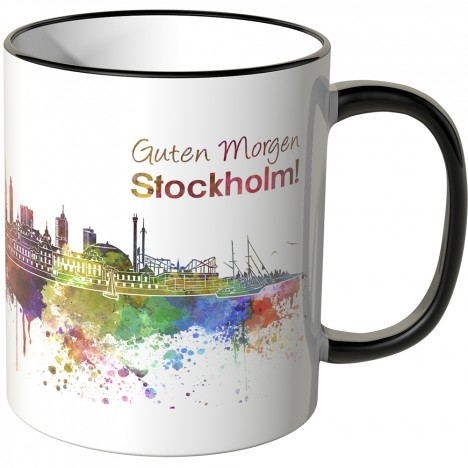 "JUNIWORDS Tasse ""Guten Morgen Stockholm!"""