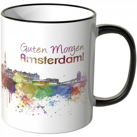 "JUNIWORDS Tasse ""Guten Morgen Amsterdam!"""