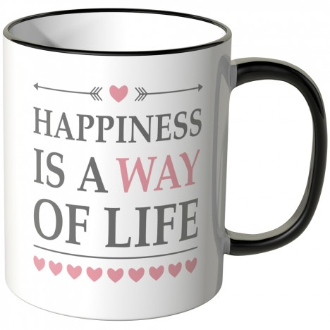 JUNIWORDS Tasse Happiness is a way of Life