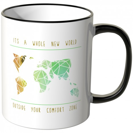 JUNIWORDS Tasse It's a whole new world outside your comfort zone