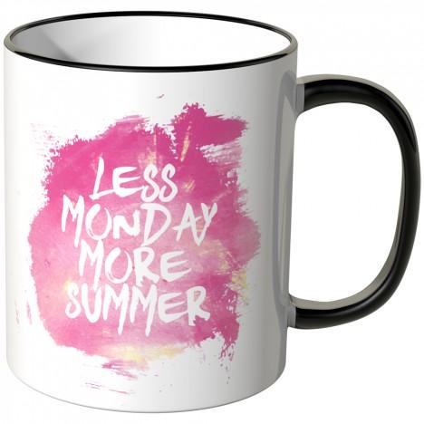 JUNIWORDS Tasse Less Monday more summer