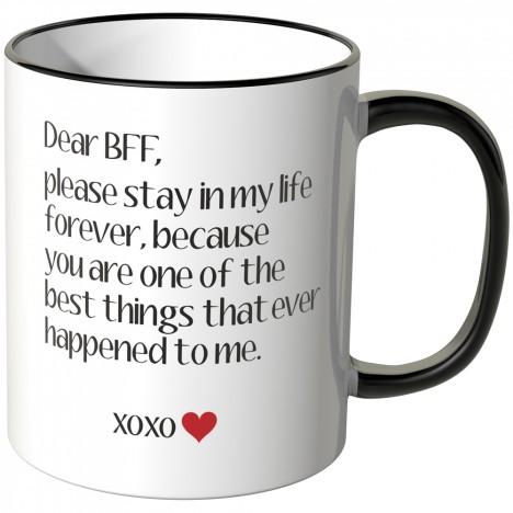 JUNIWORDS Tasse Dear BFF...