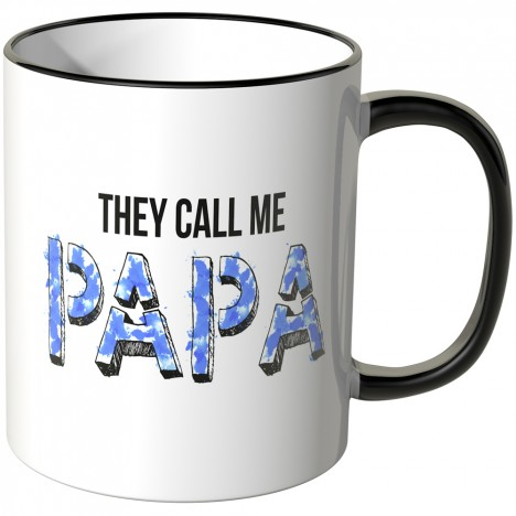 JUNIWORDS Tasse They call me Papa