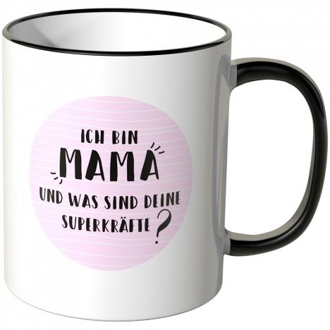 """JUNIWORDS Tasse Ich bin """"Mama"""" und was sind deine Superkräfte?"""