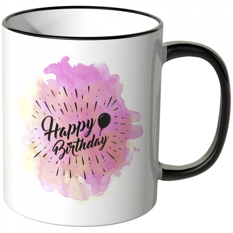 JUNIWORDS Tasse Happy Birthday Aquarell