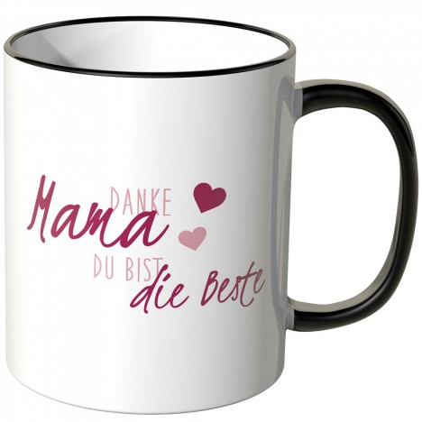 JUNIWORDS Tasse Danke Mama, Du bist die Beste! - Motiv 2