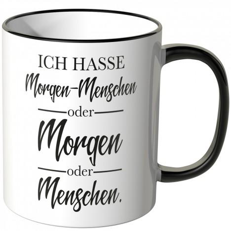 Juniwords tasse ich hasse morgen menschen oder morgen oder menschen - Fliesensticker kaffee ...