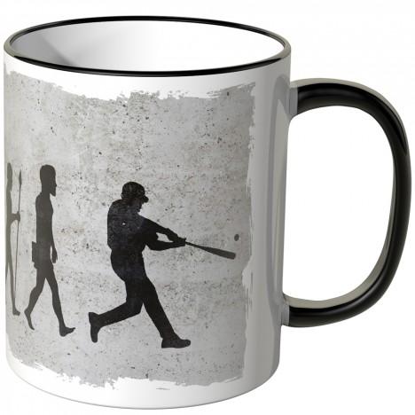 JUNIWORDS Tasse Evolution Baseball