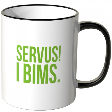 JUNIWORDS Tasse Servus! I bims.