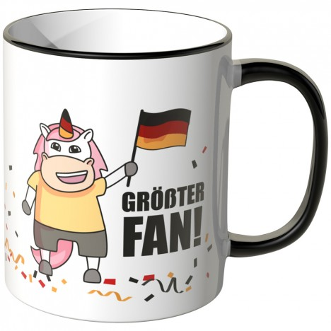 JUNIWORDS Tasse Einhorn Größter Fan!
