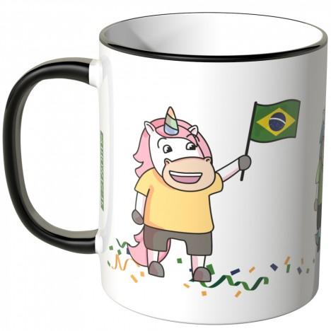JUNIWORDS Tasse Brasilien Einhorn-Fans