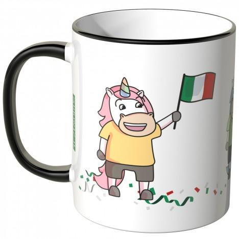 JUNIWORDS Tasse Italien Einhorn-Fans
