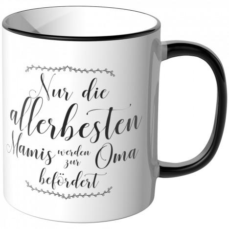 JUNIWORDS Tasse Nur die allerbesten Mamis werden zur Oma befördert - Motiv 8