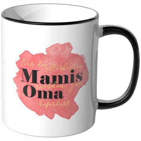 JUNIWORDS Tasse Nur die allerbesten Mamis werden zur Oma befördert - Motiv 9