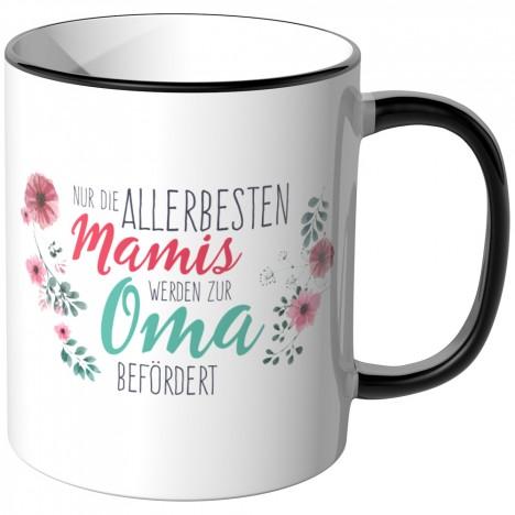 JUNIWORDS Tasse Nur die allerbesten Mamis werden zur Oma befördert - Motiv 15