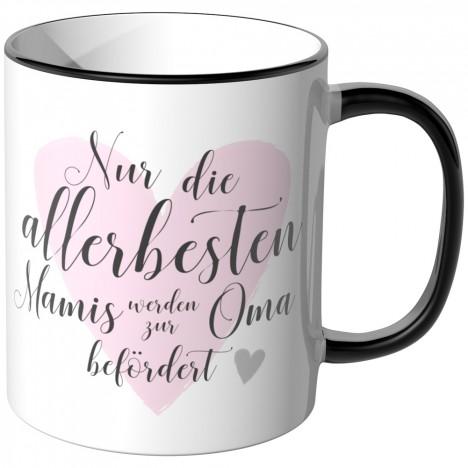 JUNIWORDS Tasse Nur die allerbesten Mamis werden zur Oma befördert - Motiv 16