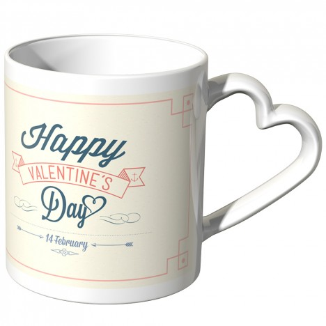 JUNIWORDS Herz Tasse Happy Valentine's Days - 14 February