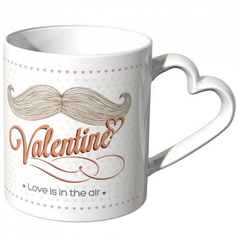 JUNIWORDS Herz Tasse Be my pretty sweet Valentine