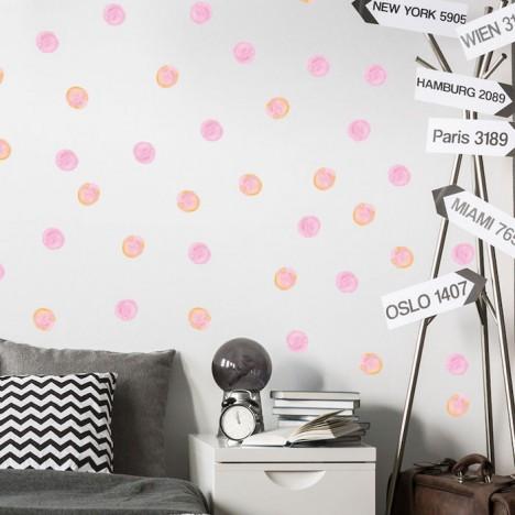 Wandsticker Set Mega - Watercolour Dots