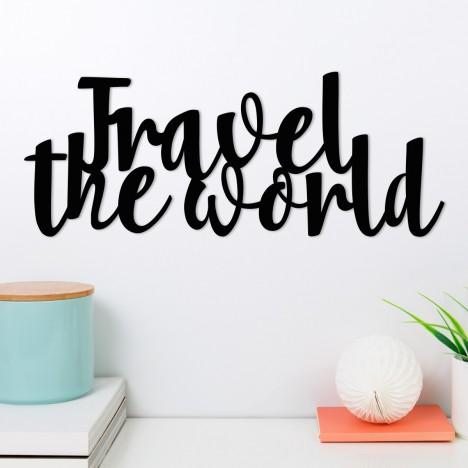 Wandwort Travel the world