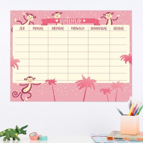 Affen Pink Stundenplan