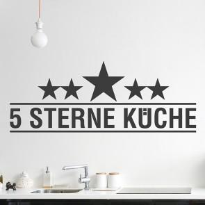 Wandtattoo 5 Sterne Küche
